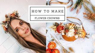 DIY Boho Flower Crown Tutorial SUPER EASY