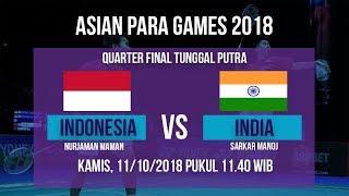 Sedang Berlangsung! Live Streaming Badminton Tunggal Putra, Indonesia Vs India Asian Para Games 2018