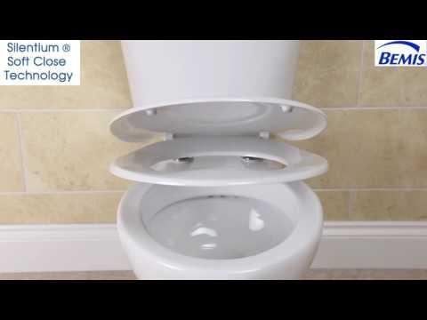 Bemis  Silentium Soft Close White Toilet Seat - Bemis white toilet seat