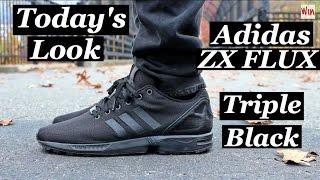 "Today's Look - Adidas ZX FLUX ""Triple Black""- Marc Jacobs Denim - HUGO Hoodie"
