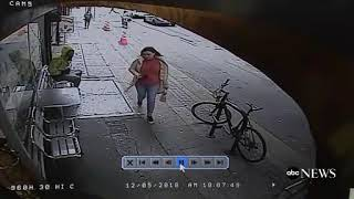 Man captured on video pushing random passerby in front of truck
