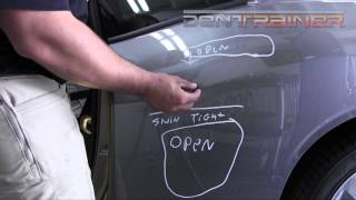 Paintless Dent Repair training - PDR - Crease Dent Removal