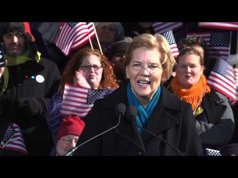Democratic Senator Elizabeth Warren made her bid for the White House official on Saturday in the working-class Massachusetts city of Lawrence. (Feb. 9)