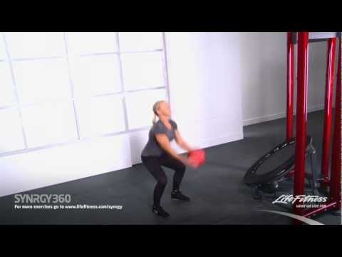 Medicine Ball Squat Toss