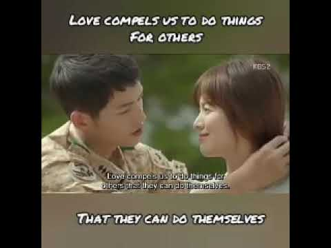 Song Joong Ki to Song Hye Kyo - Love compels to do things for others that they can do themselves