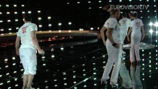 Miro's first rehearsal (impression) at the 2010 Eurovision Song Contest