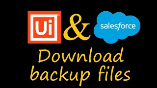 How to Download Backup Files from Salesforce Using UIPath Robots