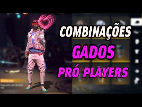 MELHORES COMBINAES DE ROUPAS NO FREE FIRE - GADOS PR PLAYERS