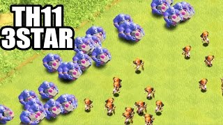 BOWLER VALK CAN 3 STAR ANY TH11 BASE | TH11 3 STAR ATTACK STRATEGY