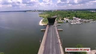 Техническая разводка Ингульского моста в Николаеве