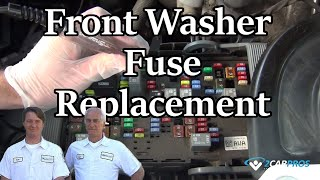 Washer Fuse Replacement