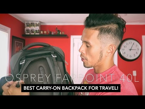 Osprey Farpoint 40 Review |  BEST CARRY-ON BACKPACK FOR TRAVEL