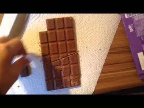 Ein Trick mit einer Tafel Schokolade:)))