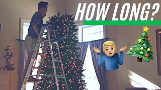 12 FOOT CHRISTMAS TREE!?🎄 HOW LONG DOES IT TAKE?