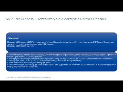 SNP Partner Checker – sprawdzaj status VAT, NIP i numer rachunku kontrahenta bezpośrednio w SAP