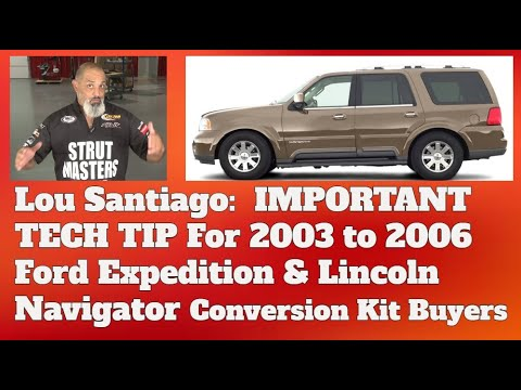 Expedition professional suspension installation videos page 1 tech tips 2003 2006 lincoln navigator and ford expedition sciox Choice Image
