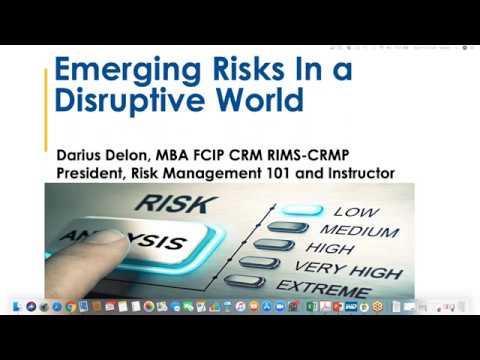 Emerging Risks in a Disruptive World - Certificate in Risk Management
