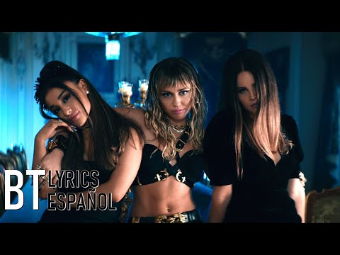 Ariana Grande, Miley Cyrus, Lana Del Rey - Don't Call Me Angel (Lyrics + Español) Video Official