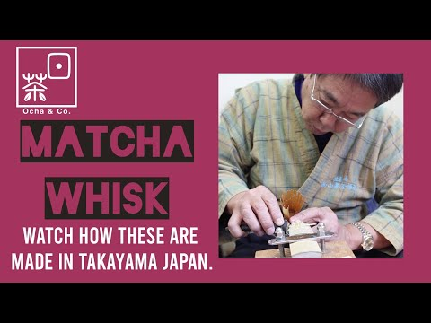 How a Japanese Nara Takayama Bamboo Matcha Whisk or Chasen is made