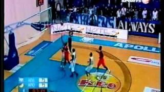 apollon - APOEL basket - sfagi apo diaitisia se 2 paixnidia sti lemeso