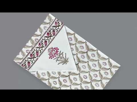 Jaipuri  Hand Block Printed Cotton Table Runner