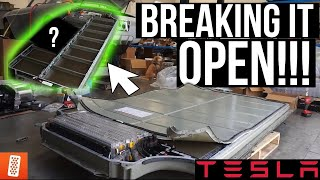 What's Inside a Tesla Model S Battery Pack -- World's FIRST Tesla Swapped Liberty Walk Nissan 350Z