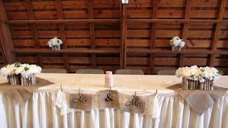 Burlap Wedding Head Table