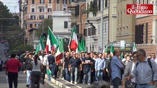 Centrodestra a Roma, CasaPound nella piazza leghista accolta da applausi e selfie