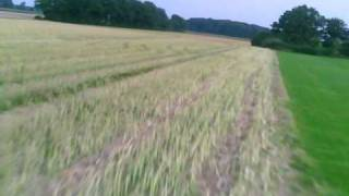 preview picture of video 'EasyStar with onboard camera low flying Crash 20100809.AVI'