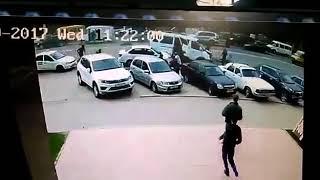 Видео с камер страшной аварии в Махачкале на ул Калинина