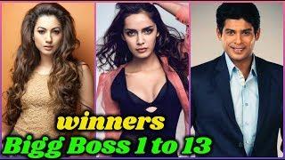 Winners of Bigg Boss Season 1 to 13    Siddharth Shukla, Rashami Desai, Shehnaz Kaur Gill, Asim Riaz