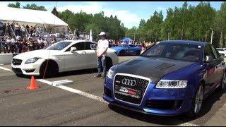 Audi RS6 Gorilla Racing vs CLS 63 AMG vs Gallardo TT Total Race vs 911 Turbo