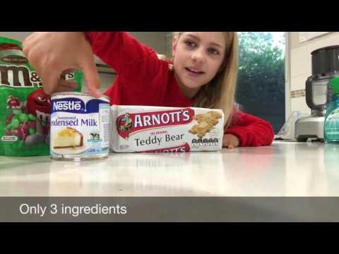 3 ingredients M&M Slice