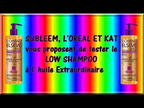 TEST # LOW SHAMPOO L'OREAL ♥ ( CONCOURS FERME )