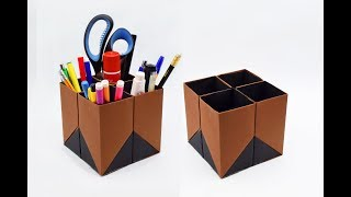 How To Make A Paper Pen Stand? (Pen Holder)