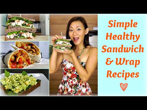 Video Healthy Sandwich & Wrap Recipes (Packed Lunch for Work or School)