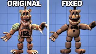 Fixed VS. Original Animatronics in Five Nights at Freddy's #3
