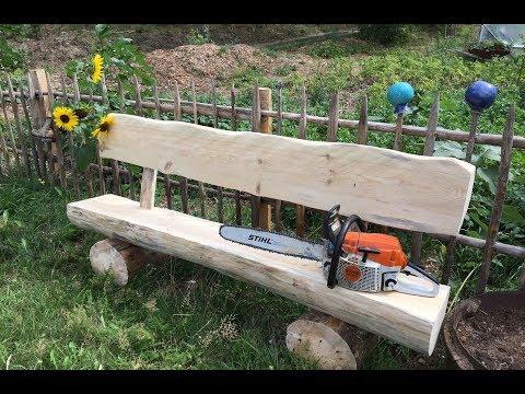 Wie man eine Bank ohne Nägel baut / Gartenbank selber bauen