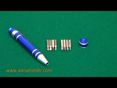 Giravite Cacciavite con 8 inserti intercambiabili taglio e stella
