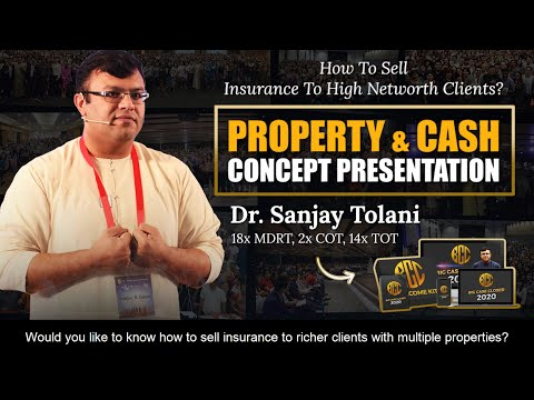 , title : 'How To Sell Insurance To High Net Worth Clients? | Property & Cash Concept Presentation