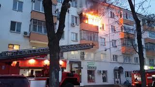 Пожар в Уфе на проспекте Октября в пятиэтажке 2018 01 25 175539
