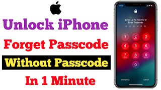 Unlock iPhone 4, 4s, 5, 5s, 5c, 6, 6s, 7, 8, X, 11Pro/Max✔Without Passcode | Unlock iPhone Passcode