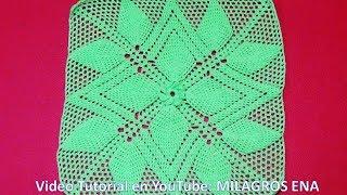 PARTE 2 Cuadrado A Crochet HOJAS EN RELIEVES Para Colchas Y Cojines Paso A Paso En Video Tutorial