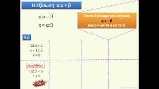 Εξισώσεις και Προβλήματα – Βίντεο
