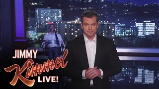 Matt Damon Takes Over Jimmy Kimmel Live