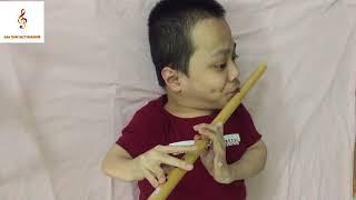 Cover ngắm hoa lệ rơi sáo trúc Quốc nguyễn đạo bambo flute Mr Quốc nguyễn đạo