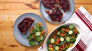 Cranberry & Orange Glazed Pork Chops • Tasty