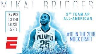 Mikal Bridges' 2018 NBA Draft Scouting Video | DraftExpress | ESPN