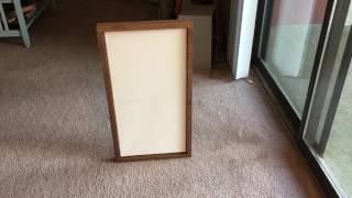 How to Install Your Painting into a Floating Frame