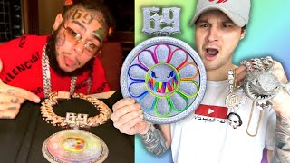 A CLOSE LOOK At 6IX9INE's NEW $1,000,000 CHAIN!! ( & Entire Jewelry Collection!